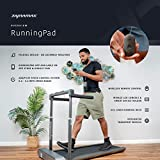 Dynamax RunningPad - Black Compact Running Walking Treadmill with Foldable Handrail & LED Console for Speed, Time, Distance Mini Quiet Treadmill with Workout App for Home/Office
