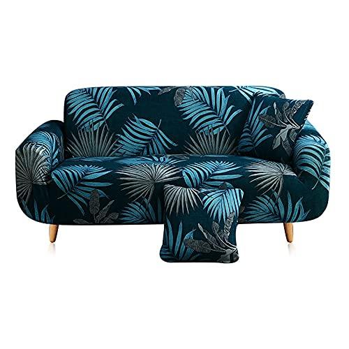 ASCV Soffskydd elastiska geometriska mönster sofföverdrag överdrag tryckt soffa överdrag skydd 1/2/3/4 sits A6 2-sits
