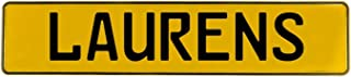 Vintage Parts 697970 Wall Art (Laurens Yellow Stamped Aluminum Street Sign Mancave)