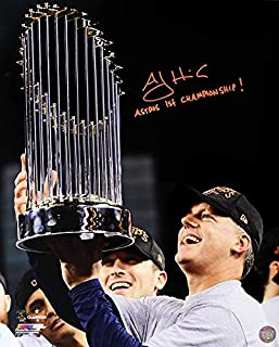 A.J. Hinch Signed Autographed Houston Astros 16x20 Photo Inscribed Astros 1st Championship! TRISTAR COA