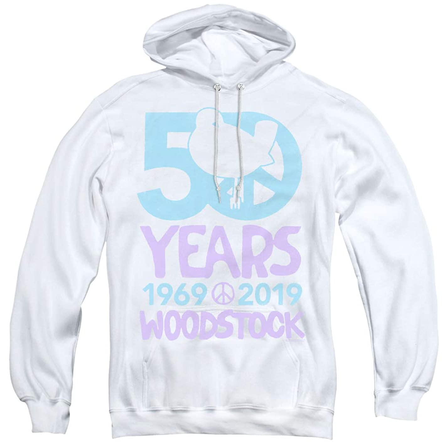 Woodstock 50 Simple Unisex Adult Pull-Over Hoodie for Men and Women