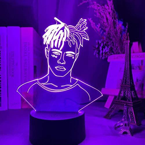 Luz de ilusión 3D Luz de noche Led Super Star Rapper Ventiladores geniales Decoración de habitación de regalo Lámpara de mesa de dormitorio de oficina