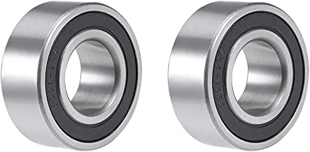 uxcell 3206-2RS Angular Contact Ball Bearing 30x62x24mm Sealed Bearings 5206-2RS 2pcs