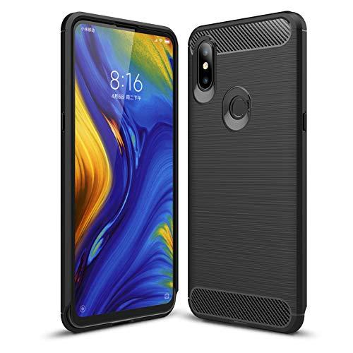LXHGrowH Funda Xiaomi Mi Mix 3, Anti-Arañazos Suave Silicona Fundas para Xiaomi Mi Mix 3, Shock-Absorción Protector TPU Carcasa Cover para Xiaomi Mi Mix 3, Color Negro