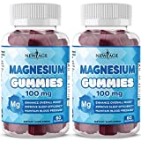 Magnesium Gummies - 2 Pack - Magnesium Citrate Supplement, Anti-Stress Gummies Magnesium Supplement for Kids and Adults, Vegan, Gelatin-Free, Gluten-Free, Non-GMO - by New Age, 120 Count