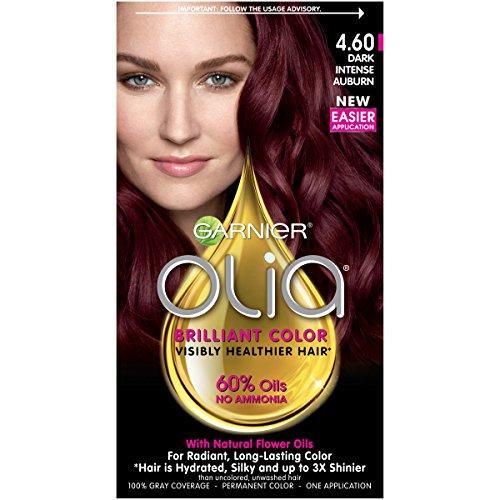Garnier Olia Ammonia-Free Brilliant Color Oil-Rich Permanent Hair Color, 4.60 Dark Intense...