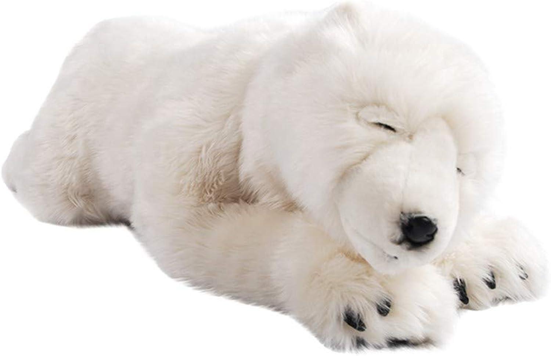 Naughty baby Simulation Schlafposition Eisbr Plüschtier Puppe Lang 1 Meter Freundin Geburtstagsgeschenk