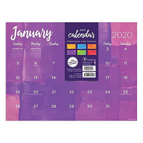 2020 Watercolor Mini Desk Pad Calendar