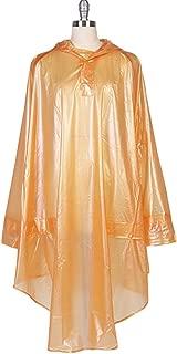 QZUnique Women's Eco-Friendly EVA Translucent Raincoat Hooded Riding Raincape