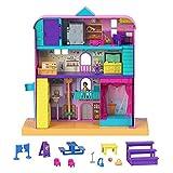 Polly Pocket Escuela increíble Pollyville Set de juego con muñecas y accesorios, juguete +4 años (Mattel GVY51)