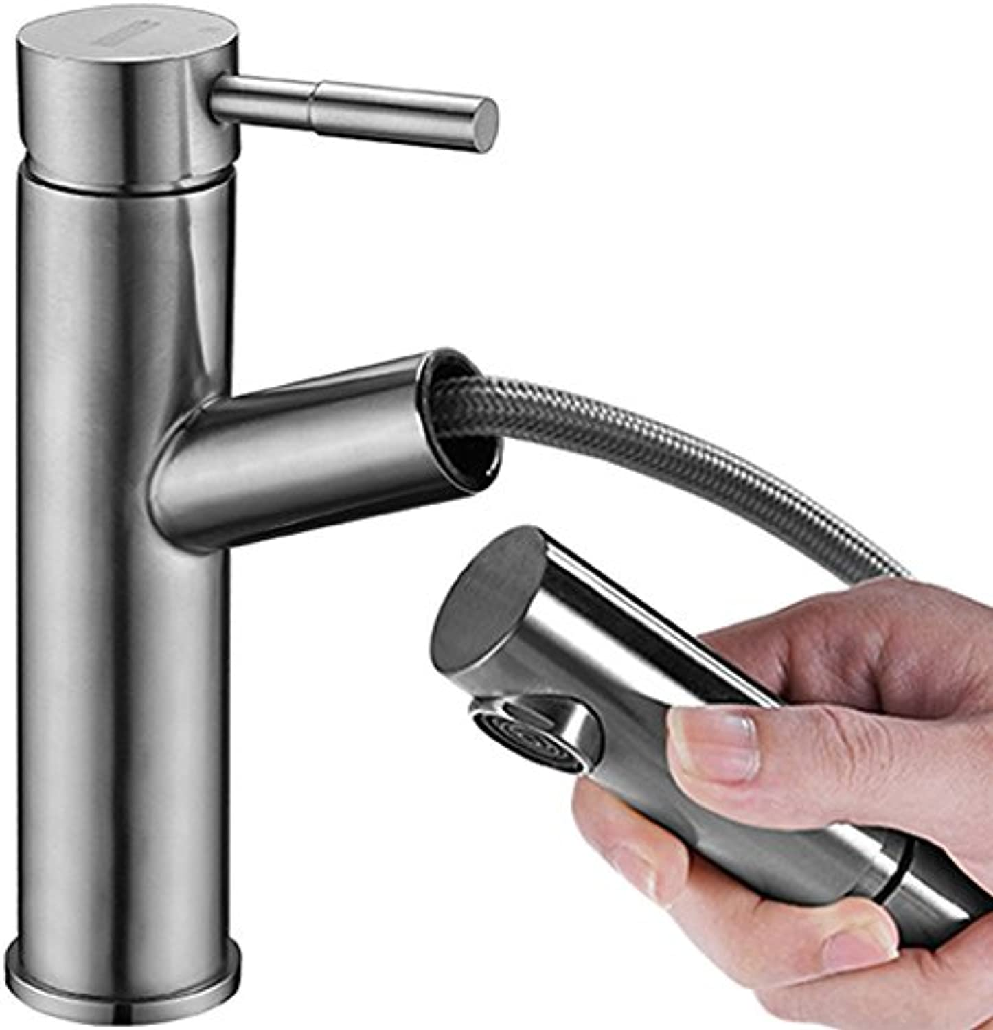 Bijjaladeva Antique Bathroom Sink Vessel Faucet Basin Mixer Tap 304 Stainless Steel Basin faucet hot and cold to pull-down faucet vanity bathroom cabinet Faucet