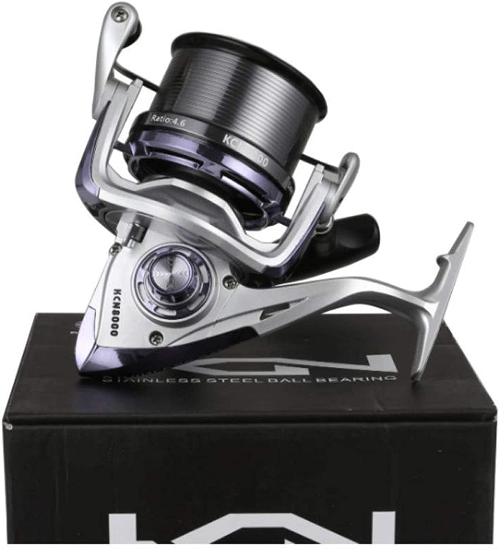 AXDNH Angelrolle, 12 + 1 Lager Spinning Wheel Vollmetalldrahtschale Long Throw Wheel Vollmetallstahlklappwippe Kann ausgetauscht Werden 5.2  1 Sea Fishing Wheel