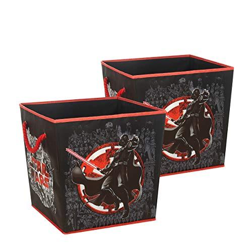 Idea Nuova Star Wars Square Storage Bin with Handles, Set of 2, Multi