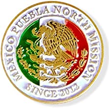 LDS México Puebla North Mission Commemorative Lapel Pin