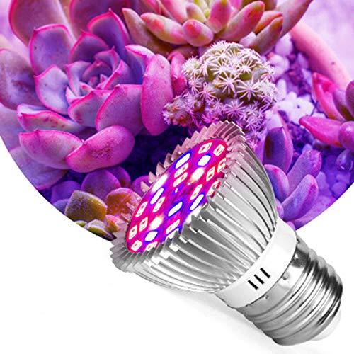 28 LED-Wachstumslampe, 28 W, E27, volles Spektrum, ausgewogenes Wachstumsleuchte, LED-Pflanzenlicht für Zimmerpflanzen, Garten, Blumen, Gemüse, Gewächshaus & Hydrokulturen