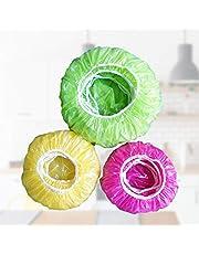 HelloCreate 30 fundas de plástico desechables, cubiertas de plástico desechables para platos, platos, cuencos, cubiertas elásticas para sobras.