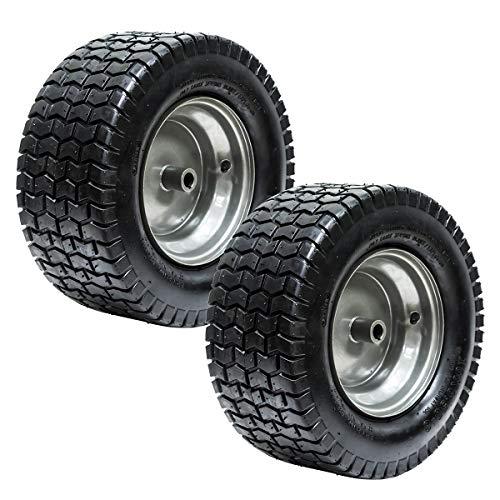 "EPR (2) 16x6.50-8 Turf Tire Riding Mower Tractor Rim Wheel Assembly 3/4"" ID x 3"" Keyed Offset Hub 2 Ply"