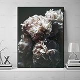 yaoxingfu Sin Marco impresión de realismo de Flores Modernas en Lienzo ng Paisaje de Flores Pared ng Arte de Pared imágenes para Vivir decoración del hogar 40x60 cm