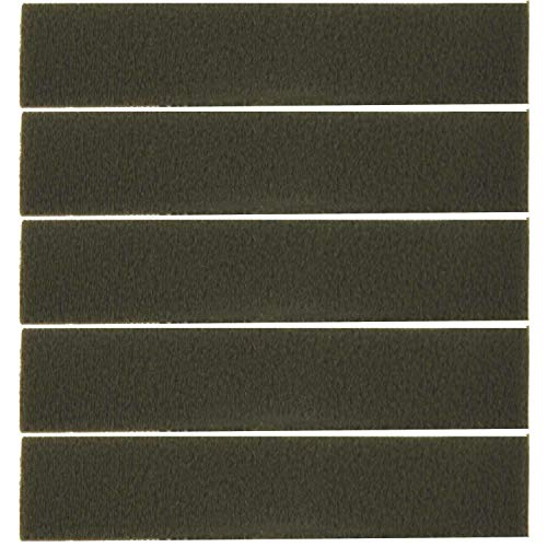Unbekannt Klettband Flausch in 2 Größen 12 x 2 cm oder 16,5 x 3 cm Farbe: Oliv 5er oder 10er Pack für Klett Patch Namensstreifen etc. groß-5er Pack