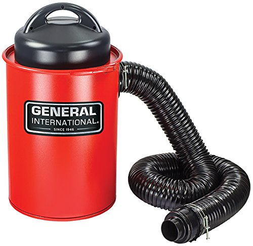 GENERAL INTERNATIONAL Portable Dust Collector - 13 Gallon Debris Vacuum with Lightweight Design & Metal Collection Drum - BT8008