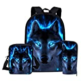 School Bags, Children's Backpacks, 3d Wolf Pattern School School School Bags, Boys And Girls School Bags, Student Bags Z2264CED