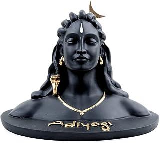 BHAKTI INFRA Vanni Polyresin Lord Shiva in Dhyana Mudra Idol, Medium, Black, 1 Piece