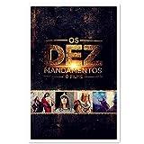 Los Diez Mandamientos: la película Carteles de películas Impresión artística Sin Marco Impresión de Lienzo Póster Decorativo Regalo (20 x 28 Pulgadas)