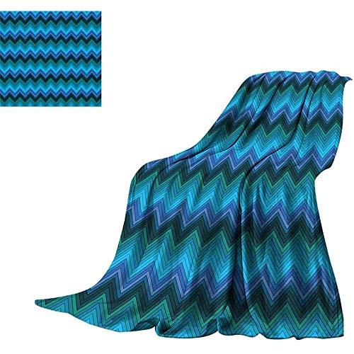 mallcentral-EU Verde Azulado, Manta cálida Patrón de Chevr