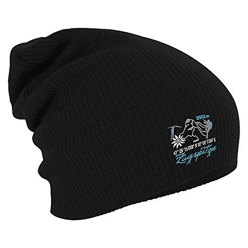 Fan-O-Menal Textilien Longbeanie Slouch-Beanie Mütze Zugspitze 54482 Farbe schwarz