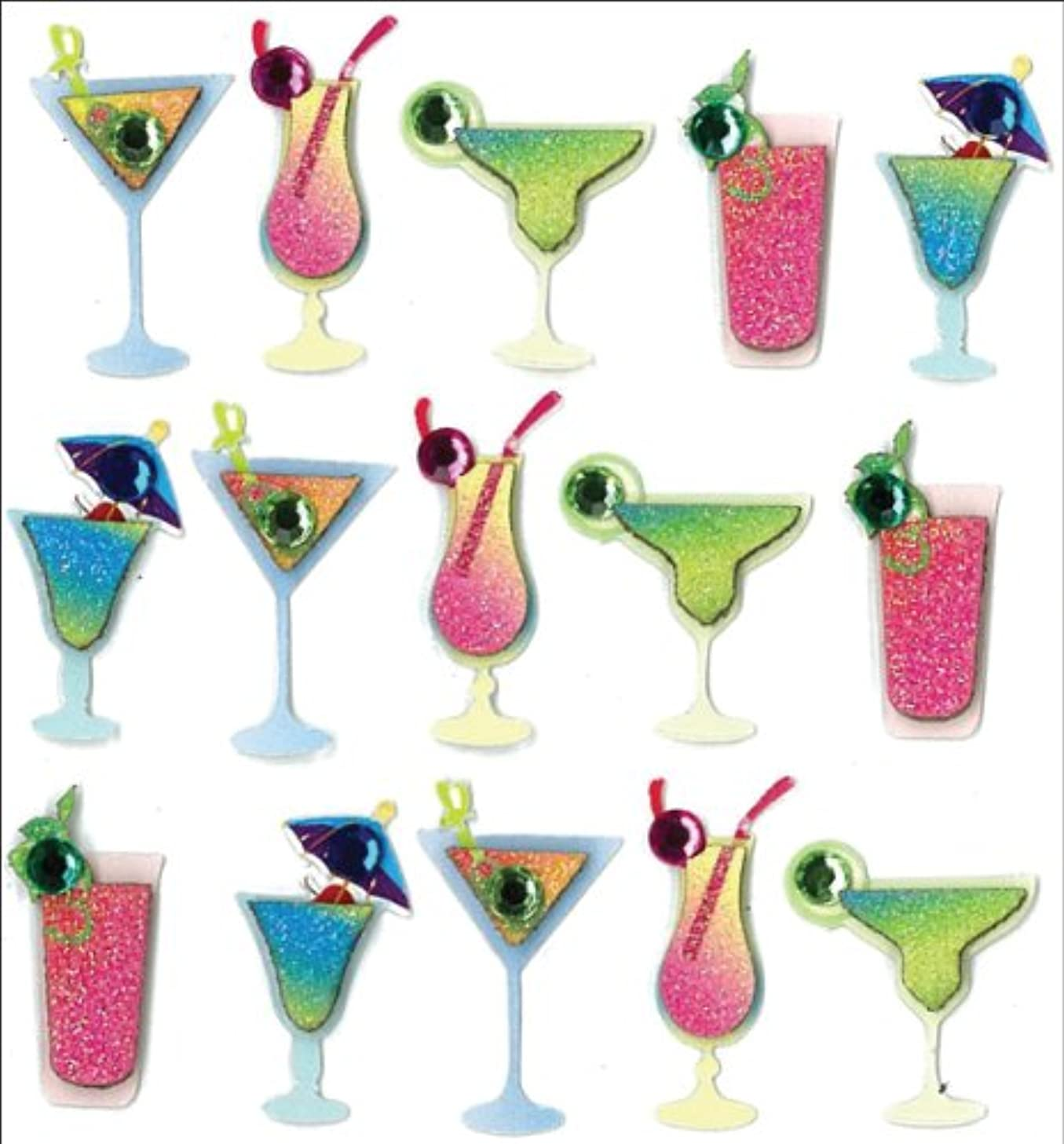 Jolee's Boutique Dimensional Stickers, Drinks