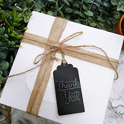 Supla 20 Pcs Chalkboard Tags Hanging Chalkboard Tags Chalkboard Name Tags Wooden Chalkboard Tags Rectangle Chalkboard Tags Black Chalkboard Tags Chalkboard Favor Tag with String for Wedding Party Photo #4