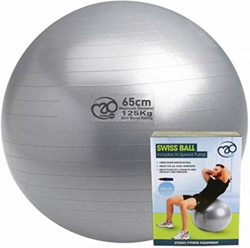 Fitness Mad Workout Gym Yoga Exercise 125kg Swiss Ball+ Pump - 65cm...