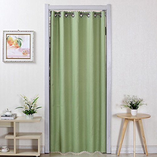 Liuyu · Maison de Vie Porte Rideau Tissu Solide Couleur Ménage Chambre Salon Cuisine Couper Rideau Climatisation (Couleur : Vert, Taille : 200 * 250cm)