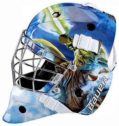 Bauer Erwachsene 1042664 Nme Start Wars Inlinehockey Maske/Helm Für Straßenhockey-Yoda (junior), Mehrfarbig, M