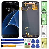 Display Touch Screen (AMOLED) Digitizer Assembly with Home Button for Samsung Galaxy S7 (5.1 inch) All Models (Unlocked) G930 G930A G930P G930T G930V G930R4 G930F G930W8 G930U (Repair Tools) (Black)
