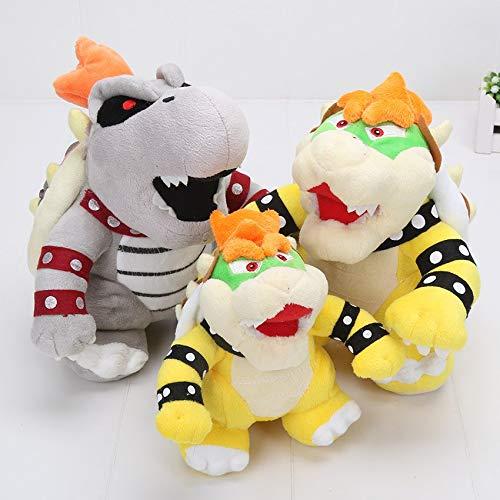 LIJIA Super Mary Plüsch 3 Stück/Los Super Mario 3D Landknochen Kubah Dragon Plüschtier Spielzeugpolster...