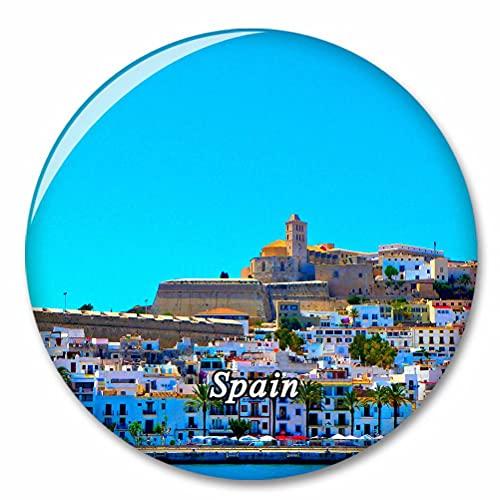 España Castillo de Ibiza Imán de Nevera, imánes Decorativo, abridor de Botellas, Ciudad turística, Viaje, colección de Recuerdos, Regalo, Pegatina Fuerte para Nevera