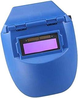 Shiwaki Careta Soldar Automatica Solar de Medio Casco, a Prueba de Fuego y Aislamiento Térmico, Anti-Escaldado y Anti-Chispas - Azul