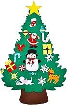 Filt Julgran Set Diy Kände Träd Med 20pcs Ornament Kids Handgjorda Xmas Education Toy För Home Party Decor