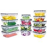 GoMaihe Récipient Boîte Alimentaire 26 pièce (13 récipient, 13 Couvercle), Plastique Boites Hermetiques avec Couvercles étanche, Rangement sans BPA, Micro-Ondes, au Congélateur EU Lave-Vaisselle