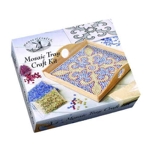House of Crafts Mosaic Colour Tiles & Wooden Tray KIT