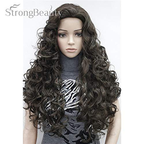 JPDP Strong Beauty Blonde Light Gold Brown Blonde Long Curly Synthetic Full Wigs Perruques pour femmes Beaucoup de couleurs pour choisir 26 pouces # 6