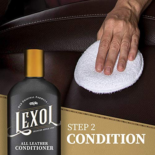 Lexol Conditioner Cleaner Kit, Use on Car Leather, Furniture, Shoes, Bags, and Accessories, Quick
