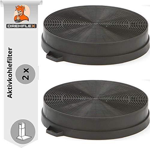 DREHFLEX - AK08-2 - 2x Kohlefilter/Aktivkohlefilter - passend für 00353121 für diverse Dunstabzugshauben von Bosch/Siemens/Constructa und Neff
