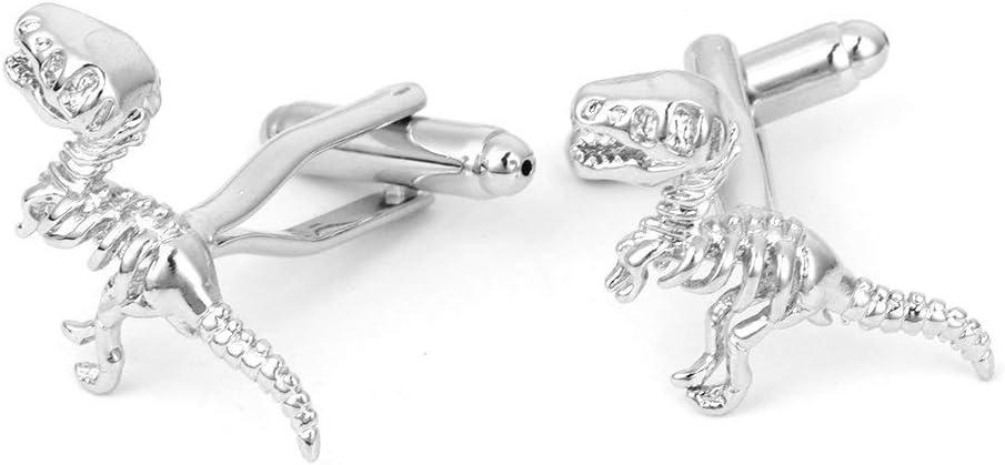PULABO 1 Pair Men's Cufflinks, Gentleman Men's Dinosaur Tyrannosaurus Skeleton Bone Cuff Link Premium Quality Popular