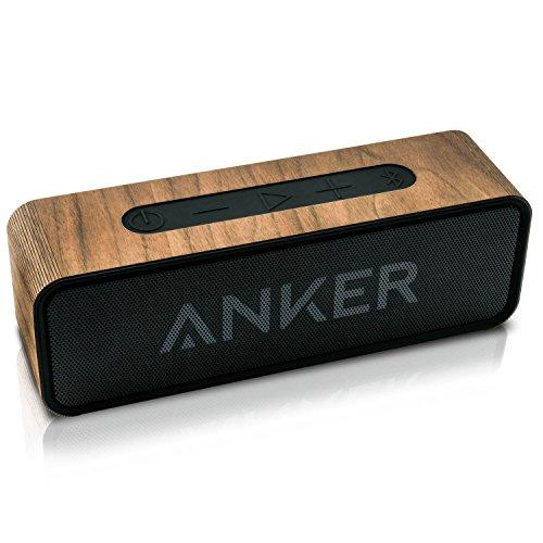 balolo® Walnuss Echtholzcover für Anker SoundCore 1 - Zubehör Design Case Cover Skin Schutz-Hülle - 100% Handmade in Germany - 100% amerikanisches Walnuss-Holz