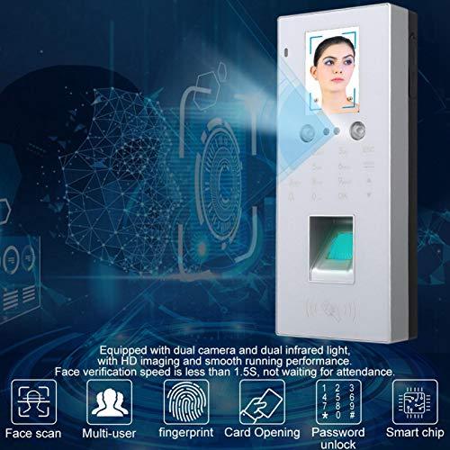 Fingerabdruck-Zeiterfassung Zeiterfassung Großer Smart-Chip mit Dual-Kamera, für Büro