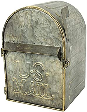 Large Metal Wall Mount Mailbox w/Slot and Full Front Access Via Hinged Door