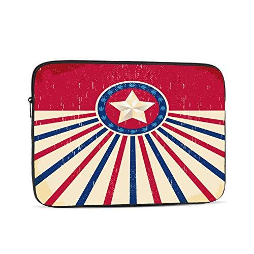 Western Texas Stars Vintage Stern Flagge Hintergrund - Karte,Western Cowboy-Stil Laptop-Hülle Kompatibel mit Apple MacBook Mac Acer Aspire Samsung Lenovo Oberflächenbuch HP Laptop-Hülle Tragetasche Fa