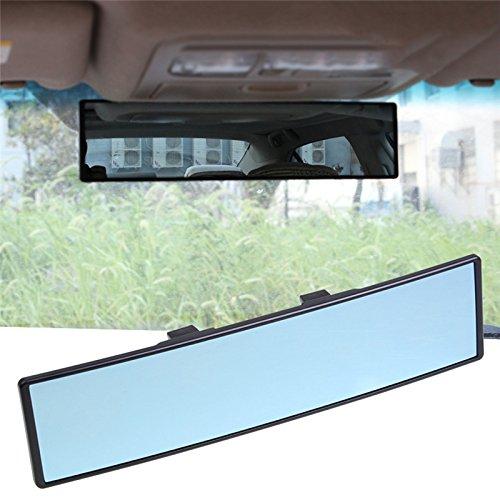 Weitwinkel-Rückspiegel, universal, gewölbt, konvexer Rückspiegel, zum Anklippen, Blendschutz,...